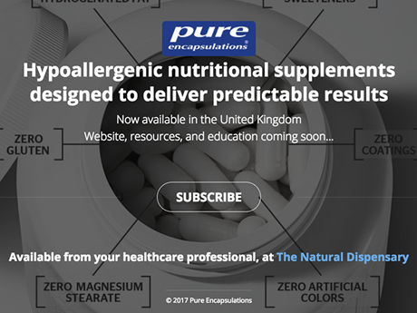 Pure Encapsulations Holding Page